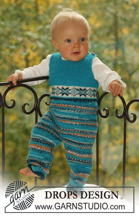 Free Pattern: Jumpsuit with or without button fastening between legs.