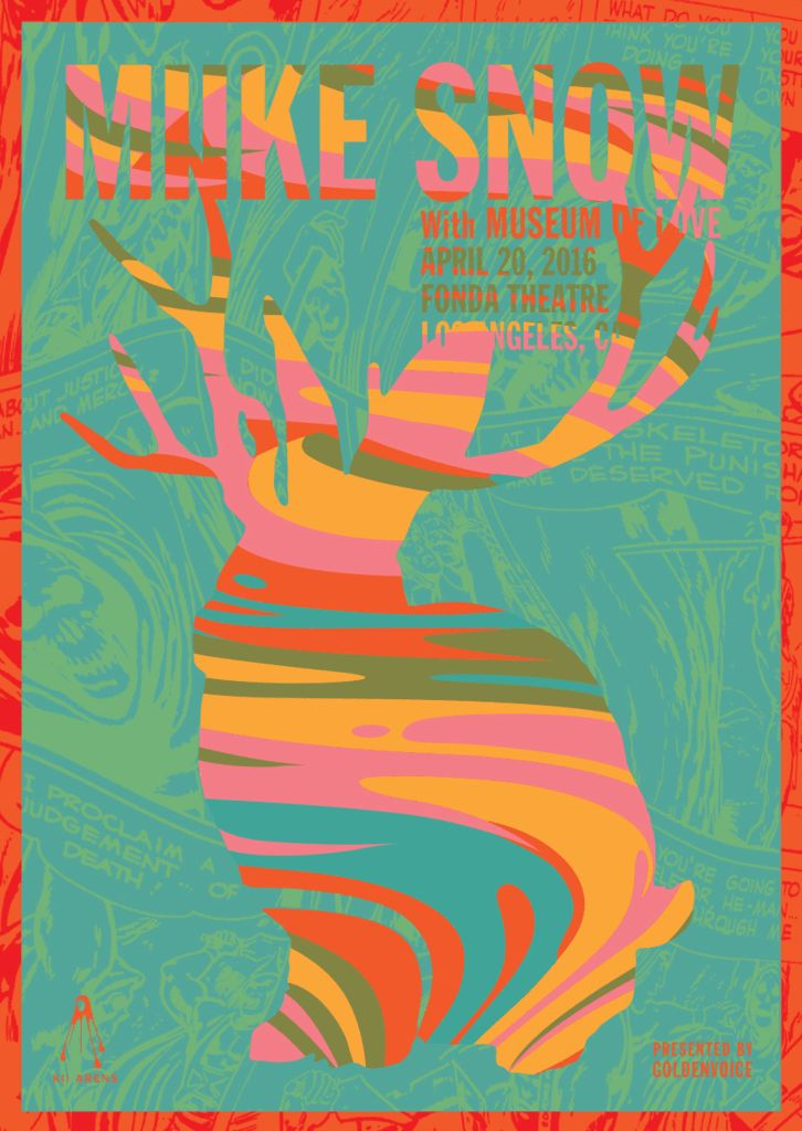 MIIKE SNOW - The Fonda Theater LA Gig Poster