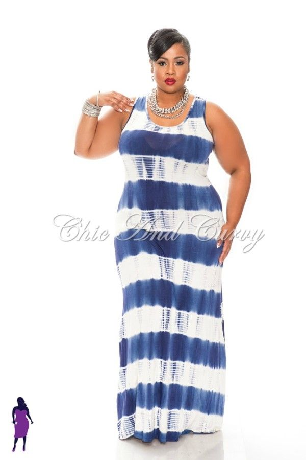 Tie dye plus size dress