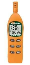 RH300: Hygro-Thermometer Psychrometer  Humidity, Wet bulb, Dew Point, Air Temperature plus External Probe Temperature measurements.  Simultaneous display of %RH, Temperature and Dew point or Wet Bulb or Probe Temperature  Wet bulb measurements without slinging  Calculates T1-T2 differential (Air Temperature-External Probe Temperature) using optional prob