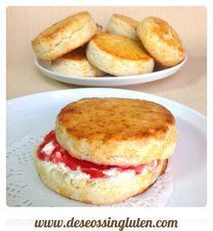 Deseos Sin Gluten: PANECILLOS INGLESES O SCONES SIN GLUTEN