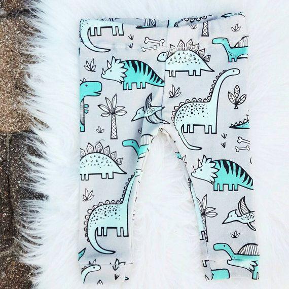 Baby Leggings, Gender Neutral Leggings, Dinosaur Leggings, Organic Leggings, Dinosaur, Organic Cotton Baby Leggings, Reptile Print