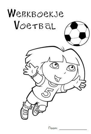 Werkboekje voetbal met allerlei reken- en taalopdrachten voor tijdens het WK - jufanke.nl