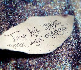 True love stories never have endings..