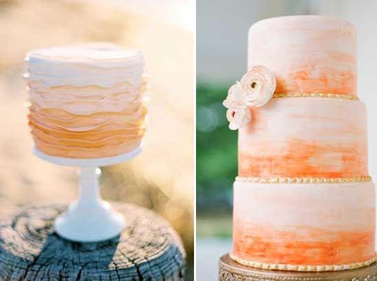 6 ombre orange hochzeitstorte blume wunderschoen modern Hochzeit in Orange – Eine Farbe für Herbst und Lebenslust
