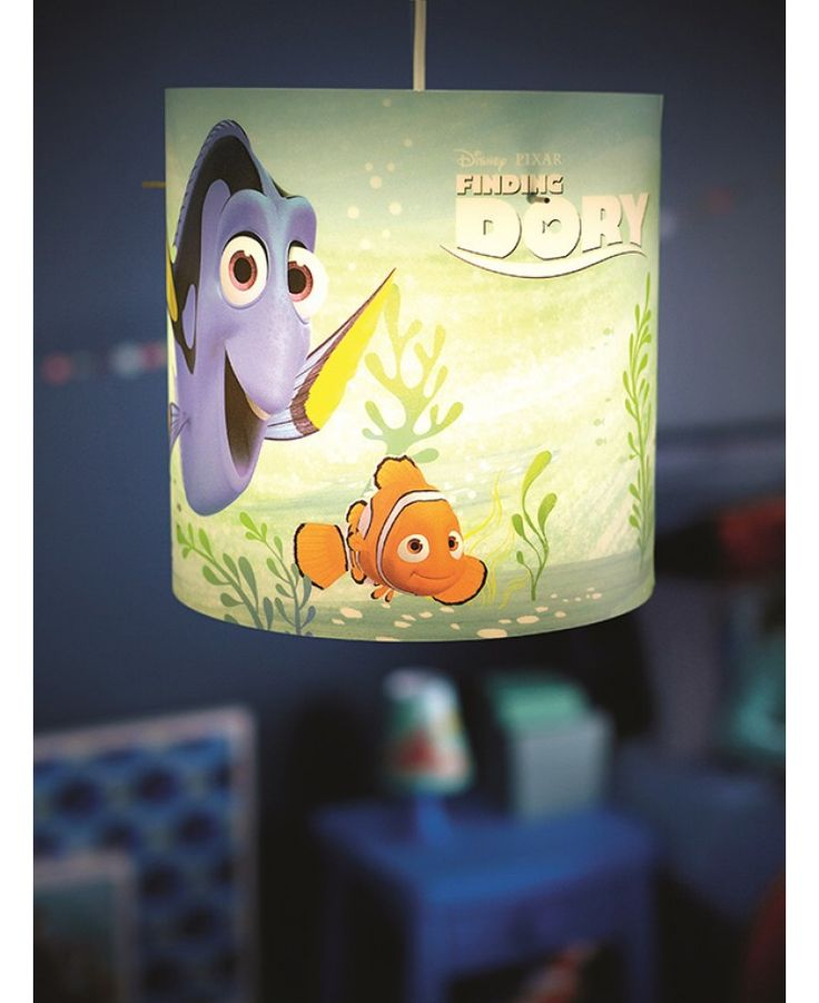 This Finding Dory Pendant Light Shade makes the perfect addition to any Dory or Nemo themed bedroom. The fun design features fantastic images of Dory, Nemo and Hank the octopus that are sure to delight any fan!