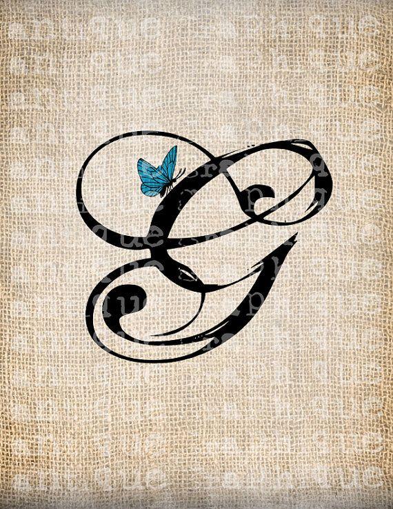 Antique Letter G Script Monogram with by AntiqueGraphiqueAged, $1.00