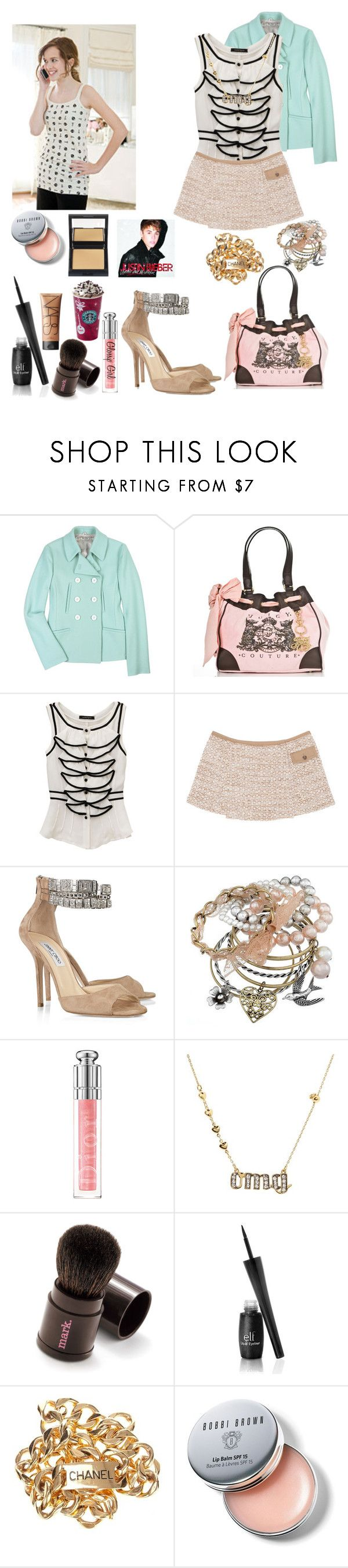 """""""Shopping"""" by massie-elizabeth-block ❤ liked on Polyvore featuring Miu Miu, Juicy Couture, Jimmy Choo, Miss Selfridge, Christian Dior, ELF Cosmetics, Chanel, Bobbi Brown Cosmetics, NARS Cosmetics and Stetson"""