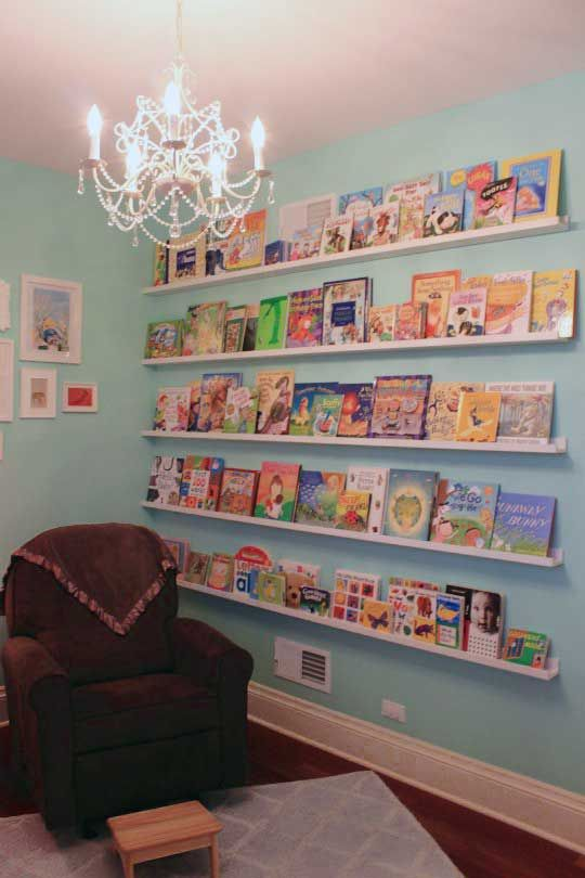 love this for displaying (children's) books; much more inviting when you can scan covers not spines