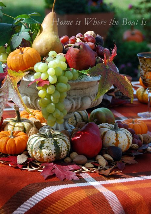 Harvest a minute centerpiece for your fall table home