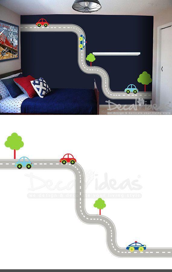 Race Car Wall Decals Race Car Decals Car Wall Decor Race Etsy Boys Wall Decals Boys Wall Stickers Wall Decal Boys Room