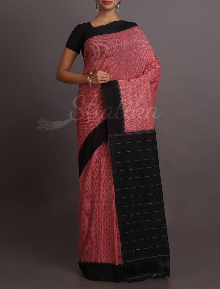 Raima Striking Stripe Beauty Pure #IkatCottonSaree