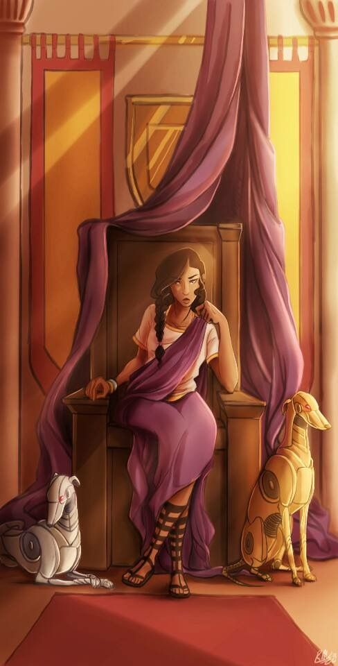Reyna and her dogs , Aurum and Argentum...<<< so much sass