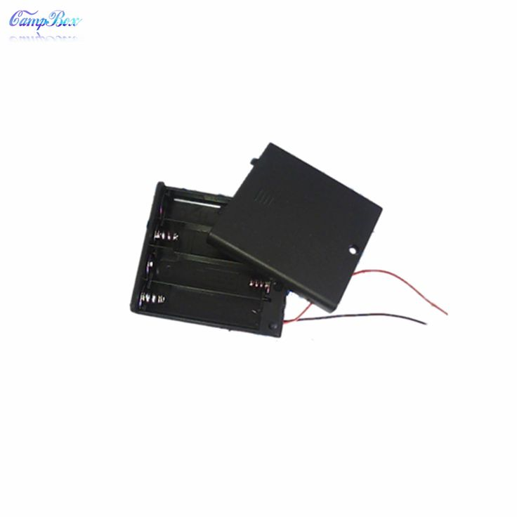 30Pcs 4 AA Battery Case Holder Box Base Socket With Wires,Switch and Cover, Battery Holder