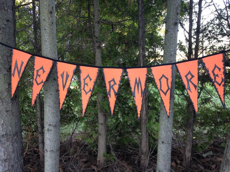 Halloween Indoor Outdoor Banner.  Hand painted on canvas.  One of a Kind Home Décor designed and created by G. Fisher
