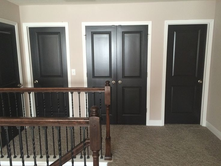 We added dark interior doors and love the contemporary ...