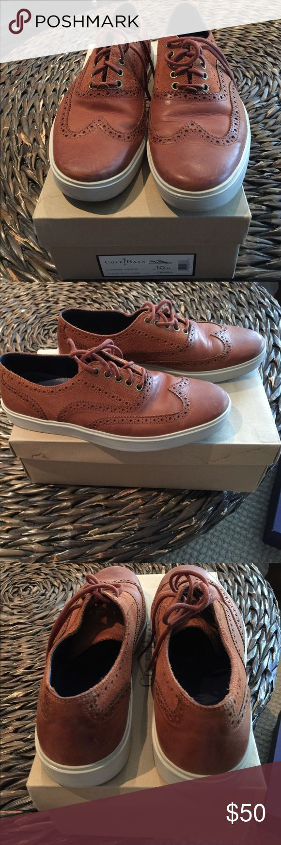 Men Cole Hann Dressy Sneakers Cole Hann, Bergen Wingtip, Rust leather, Rust suede, size 10, good condition Cole Haan Shoes Oxfords & Derbys