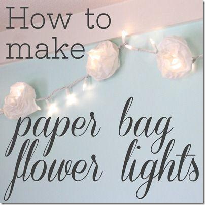 paper bag flower lights via www.theshabbycreekcottage.com