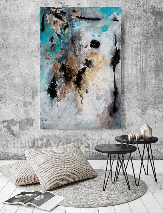 #turquoise #extra #Large #wallart #art #modernart #modernabstract #interiordesignideas #black #gold #gray #contemporary #grey #interiordesigners #buyart #watercolor #artcollector #interior #juliaapostolova #abstlractart #interiordesignideas #abstractpainting #watercolour #etsyseller #abstractexpressionism #goldleaf #abstraction #interiordesigns #modern #Rectangle #Print Option of #Original #SOLD #Abstract #Diptych #Painting: #MilkyWay 1 & 2, by #Fine #Artist #JuliaApostolova ▼BUY TWO #PRINTS