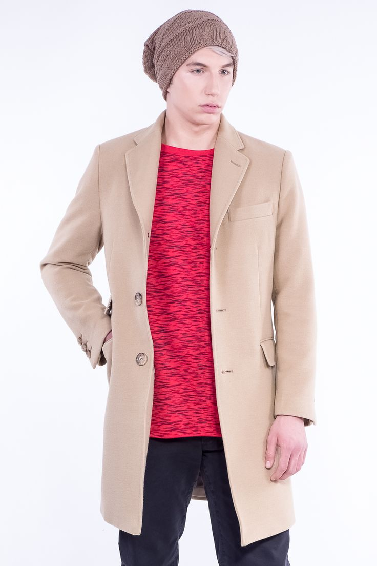 Overcoat in 3 buttons