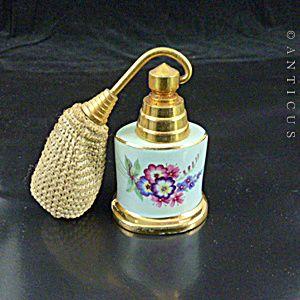 Vintage Bone China Perfume Atomiser Bottle.