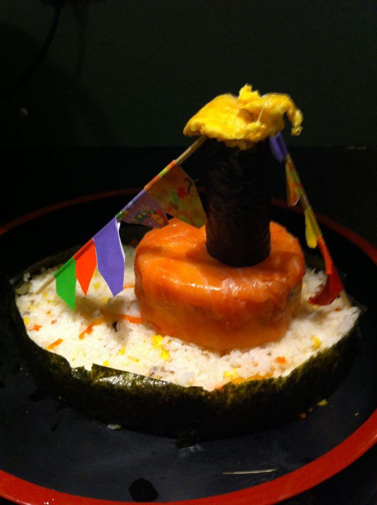 Sinterklaas stoomboot sushi