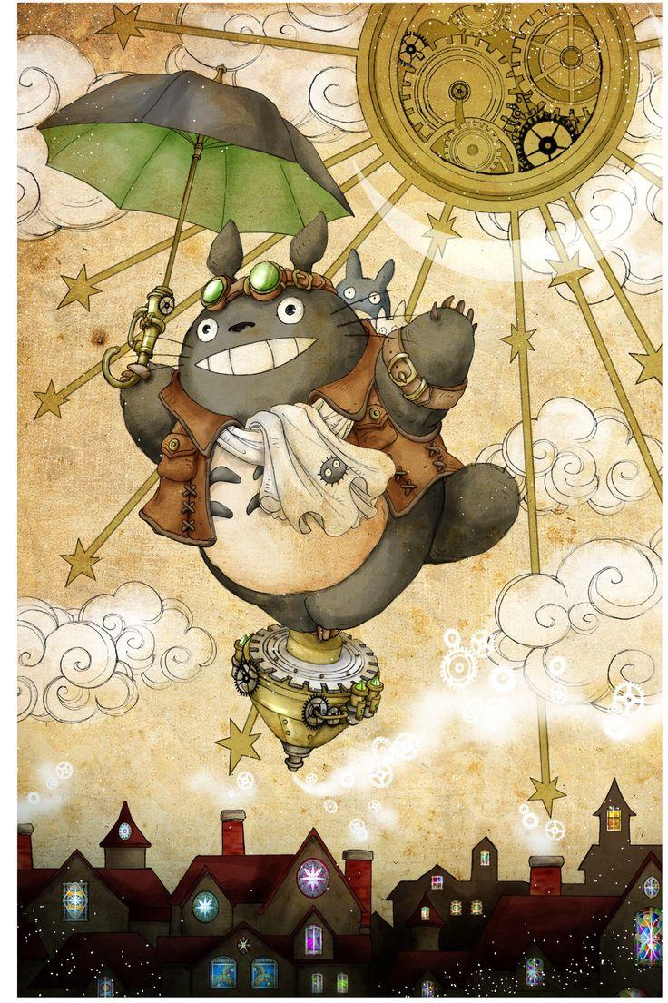 Ghibli - Mon Voisin Totoro (My Neighbor Totoro) Miyazaki - Steampunk Totoro Fan Art