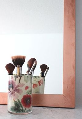 Here's a great tutorial for a DIY Makeup Brush Holder. It's perfect to keep all your accessories neat and tidy and it's an easy fun project to do. Click the link and give it a try.  http://www.hgtv.ca/photos/gallery/?gid=fb3b3300235f2dd5aaa2db796e6d4c8c#!/0