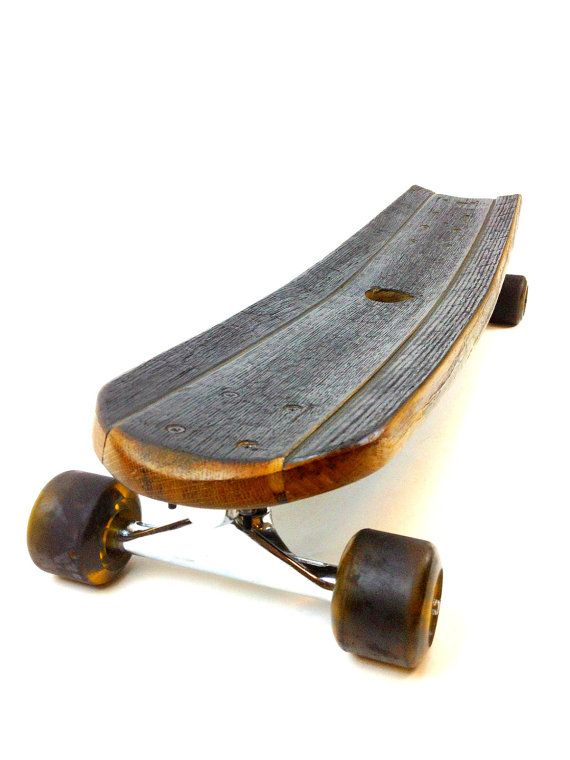 Whiskey Barrel Stave Long Board/Skateboard by HungarianWorkshop