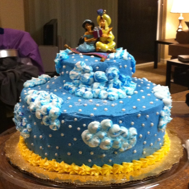 One of my most favorite creations! Funfetti Aladdin cake :)