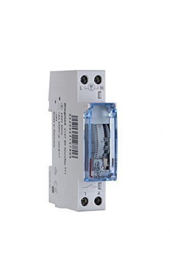 Horloge journalière 1 contact NO – Legrand 412780: Price:37.12legrand 412780 : horloge programmable analogique cadran verticale journalier…