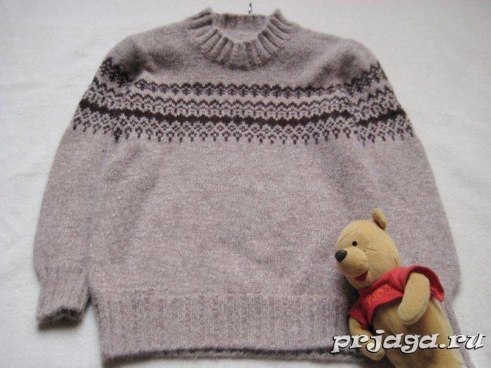Вязанные детские свитера спицами