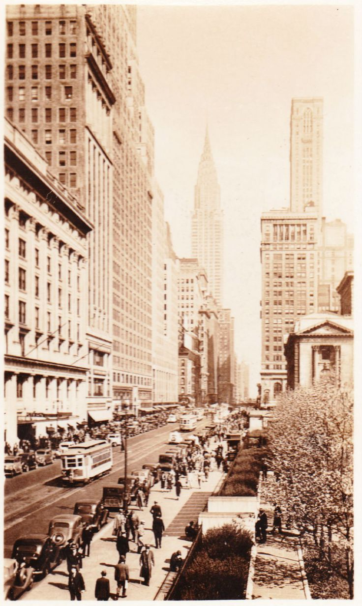 42nd Street in New York City, mid-1930s.