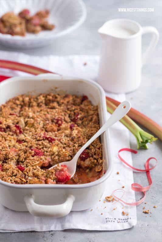 Gluten-free, vegetarian diet Rhabarbercrumble