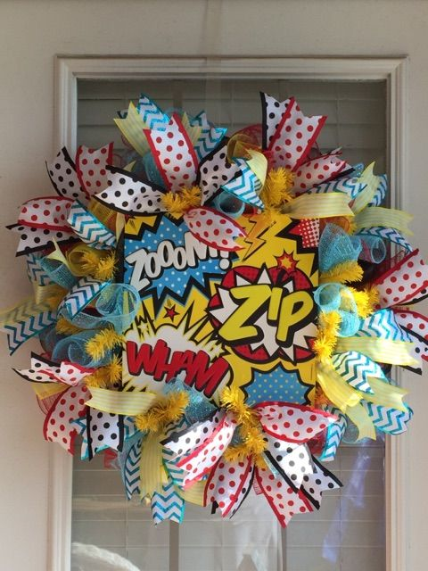 Marvel Classroom Decor ~ Best specialty themed wreaths images on pinterest