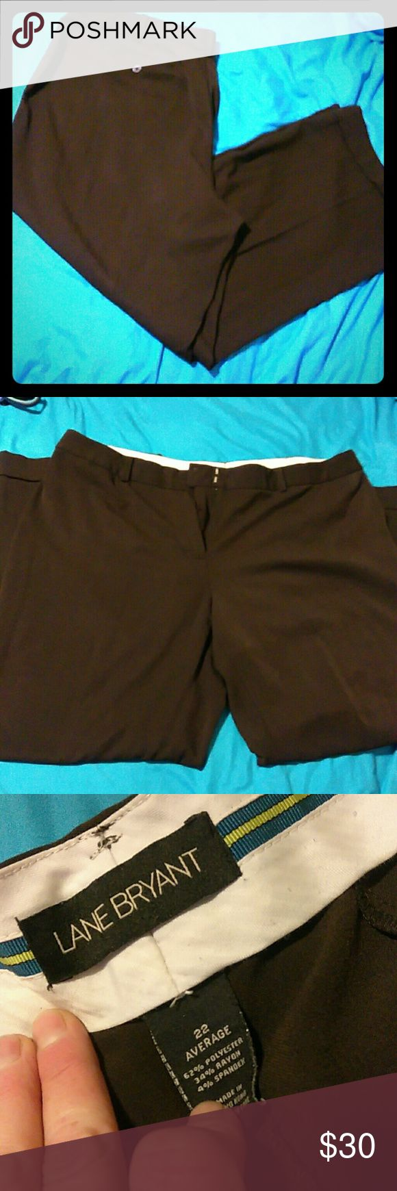 Lane Bryant brown slacks Lane Bryant brown dress pants with folded cusp at feet. No damages. Lane Bryant Pants Trousers
