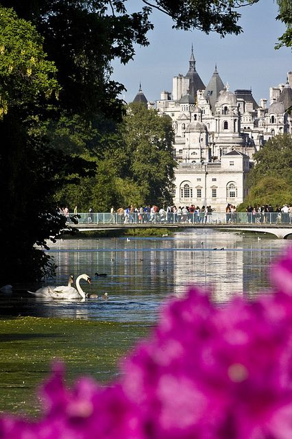 St. James's Park, #London. In the 12th century a leper hospital was built on this site and St James's Park was named after it. It looks just like a fairytale castle.