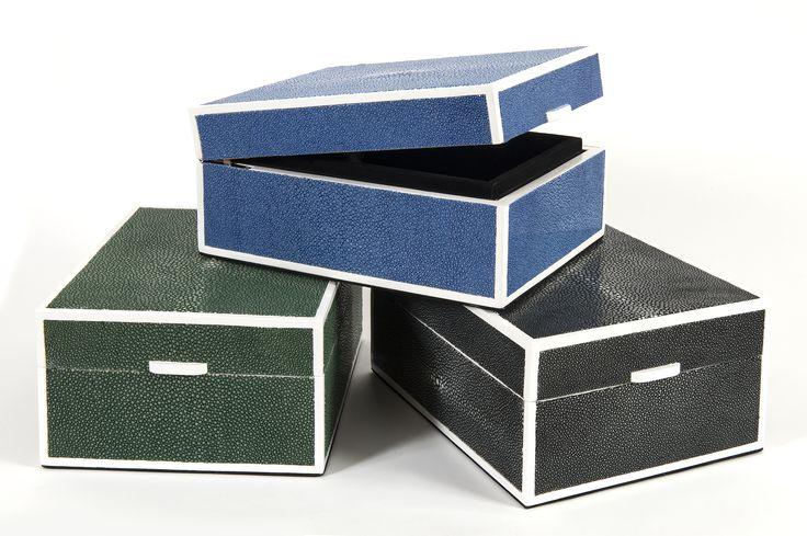 Our shagreen boxes. // Nos boîtes en galuchat. Available on // Disponible sur : http://www.galerie-galuchat.com/faire-du-sur-mesure