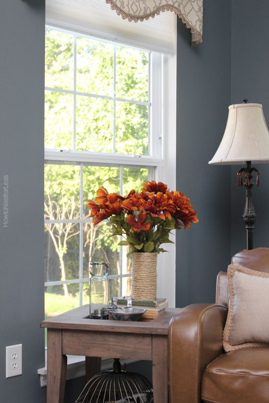 Charcoal Gray Sun Room Blue Gray Paint Living Room