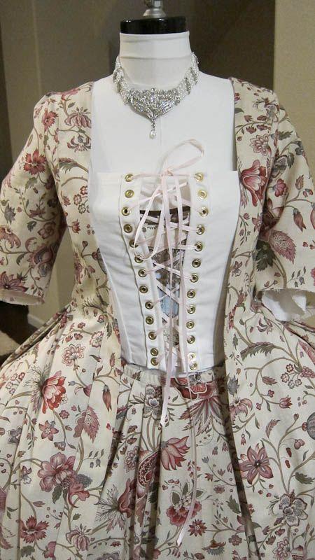 Notes on how to sew a pet en l'air or robe a la francaise using JP Ryan's patterns
