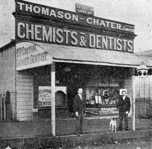 T. F. Costin's Pharmacy, Boonah, 1905-lilly. Queensland History