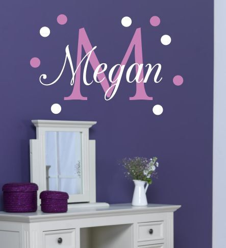 Best Vinil Images On Pinterest Babies Nursery Monogram Wall - Monogram wall decal for kids