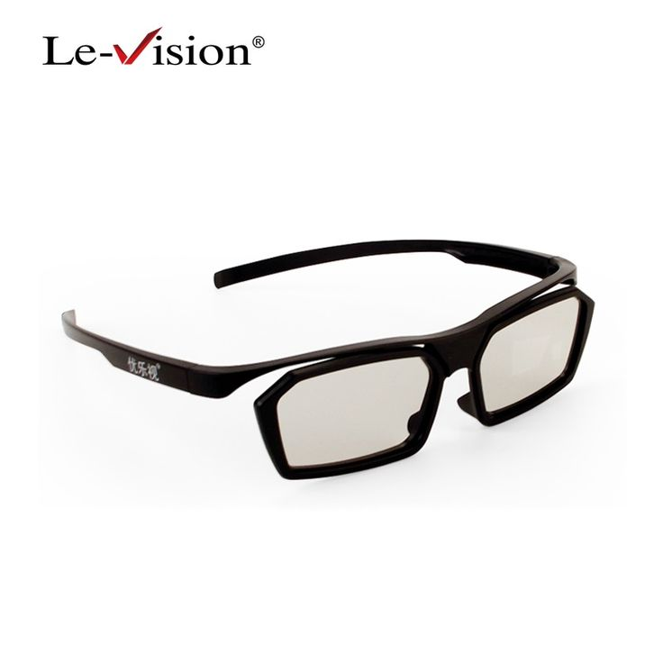 Free shipping Le-Vision LSB035 Adult Passive Polarized 3D Glasses Black for RealD Cinema/ FPR 3D TVs/ Home Theater