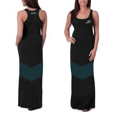 Women's '47 Brand Black Philadelphia Eagles Encore Maxi Dress ...