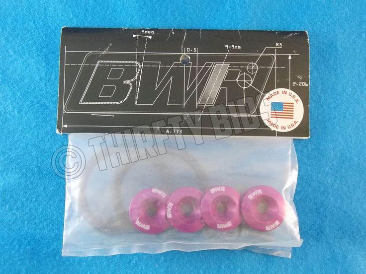 Blackworks Racing BWR Bumper Washers Quick Release Fasteners Pink BWAC-0585PK #BlackworksRacing