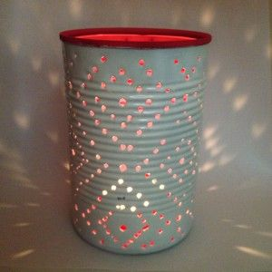 DIY Blik lantaarn + patronen