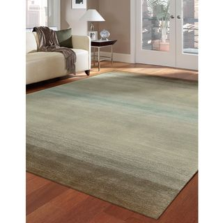 Nourison Casual Hand-tufted Contours Natural Rug (8' x 10'6) | Overstock.com Shopping - Great Deals on Nourison 7x9 - 10x14 Rugs