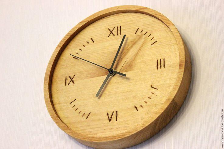 Купить настенные часы из сосны - желтый, часы, часы настенные, часы для дома, часы необычные