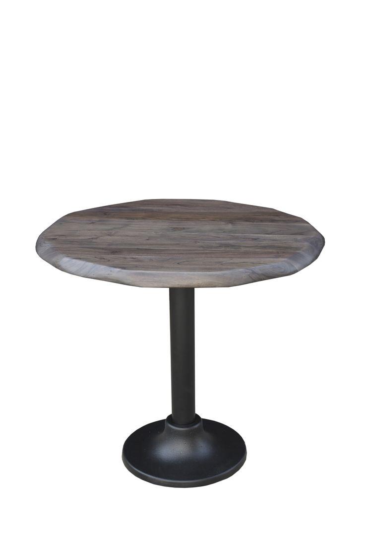 """Contempo Bistro Table Dimensions: WDH"""": 34 x 34 x 30 Made with Acacia Wood Vinegar Matte Finish"""