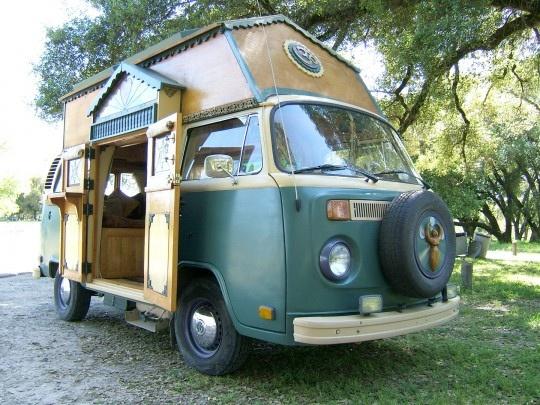 VW Bus Tiny House -- tiny-house-vw-van by Tumbleweed Tiny House Company, via Flickr   Sailing away?   Pinterest   House, Tumbleweed tiny homes and Tiny house c…